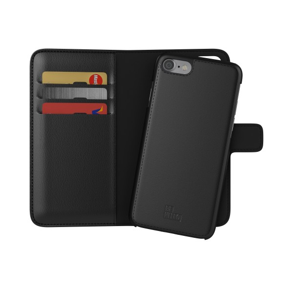 BeHello 2-in-1 Wallet Case Zwart voor iPhone 8 7 6s 6