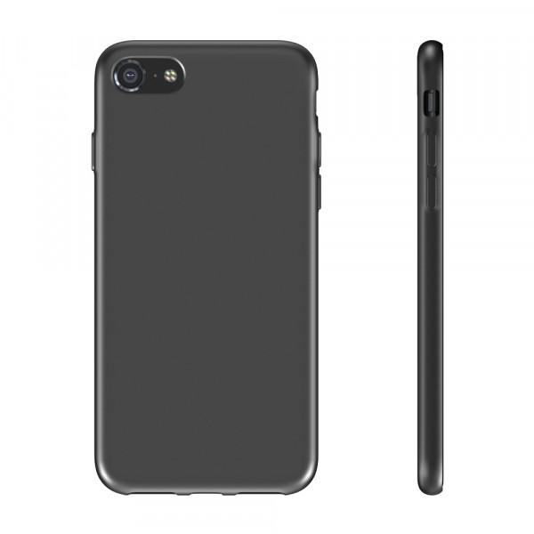 BeHello iPhone SE (2020) / 8 / 7 / 6s / 6 Siliconen Hoesje Zwart