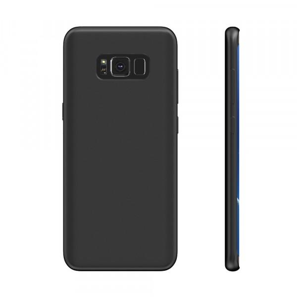 BeHello Premium Liquid Silicon Case Zwart voor Samsung Galaxy S8+