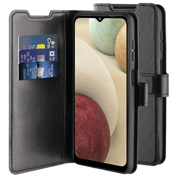 BeHello Samsung Galaxy A12 Gel Wallet Case Black