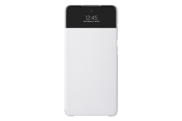 Samsung A72 S View Wallet Cover Case White
