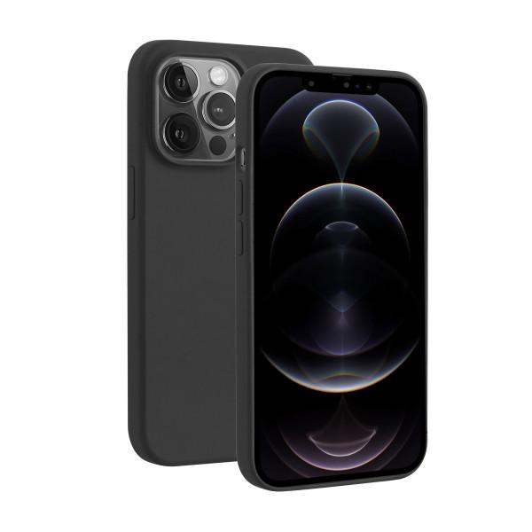 BeHello iPhone 13 Pro Max Liquid Silicone Hoesje Zwart