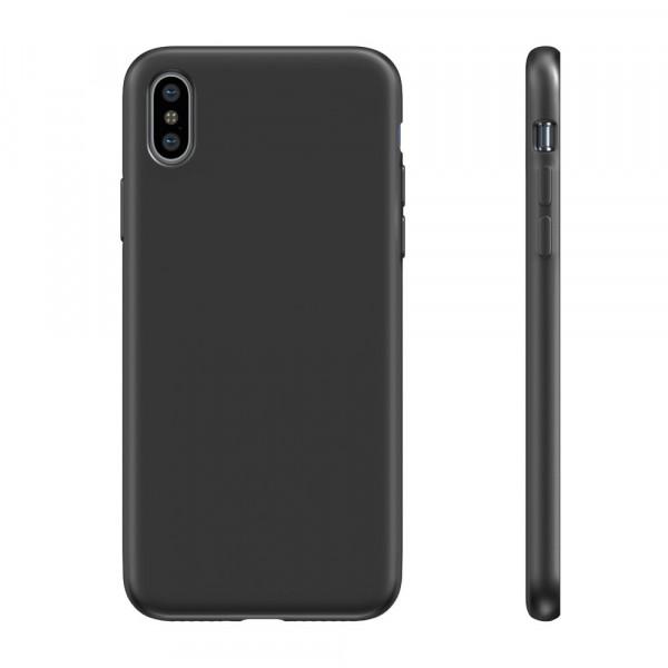 BeHello Premium Liquid Silicon Case Zwart voor iPhone Xs Max