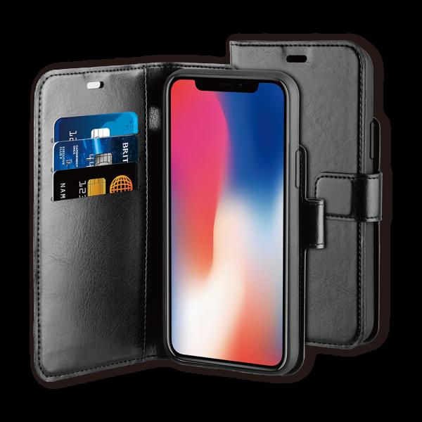 BeHello iPhone 11 Pro Hoesje - Gel Wallet Case Met Ruimte Voor 3 Pasjes Zwart