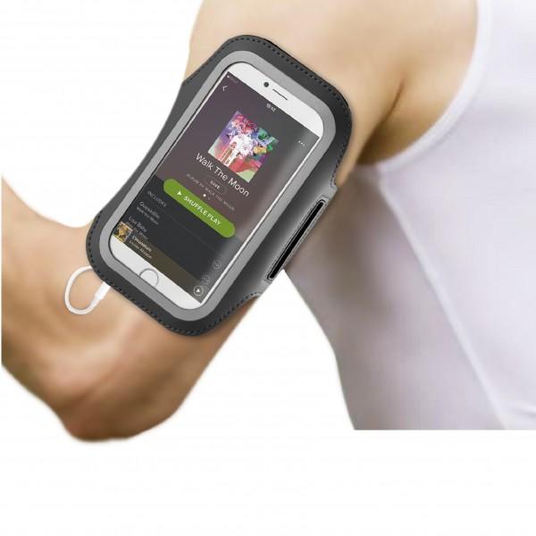 BeHello Universele Sportarmband Maat XL (oa iPhone Xs iPhone X iPhone 8 iPhone 7 iPhone 6) - Zwa