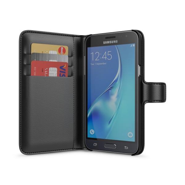 BeHello Samsung Galaxy J3 (2016) Wallet Case Black