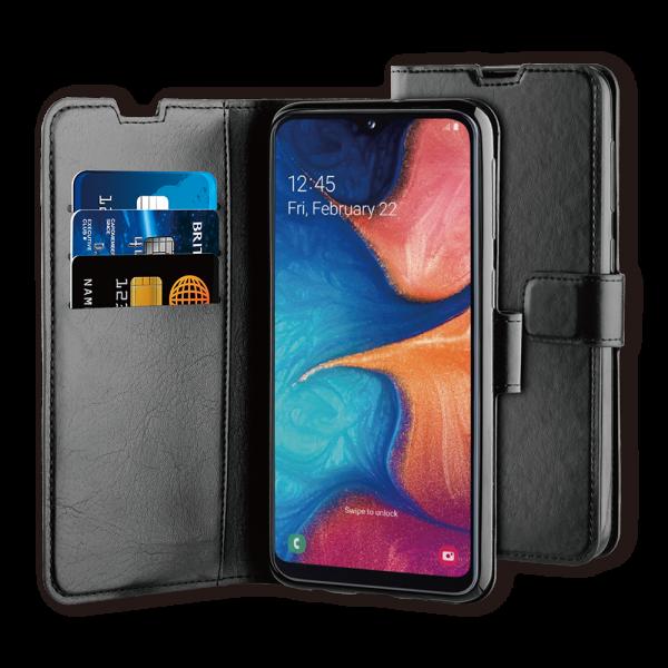 BeHello Samsung Galaxy A20E Hoesje - Gel Wallet Case Met Ruimte Voor 3 Pasjes Zwart