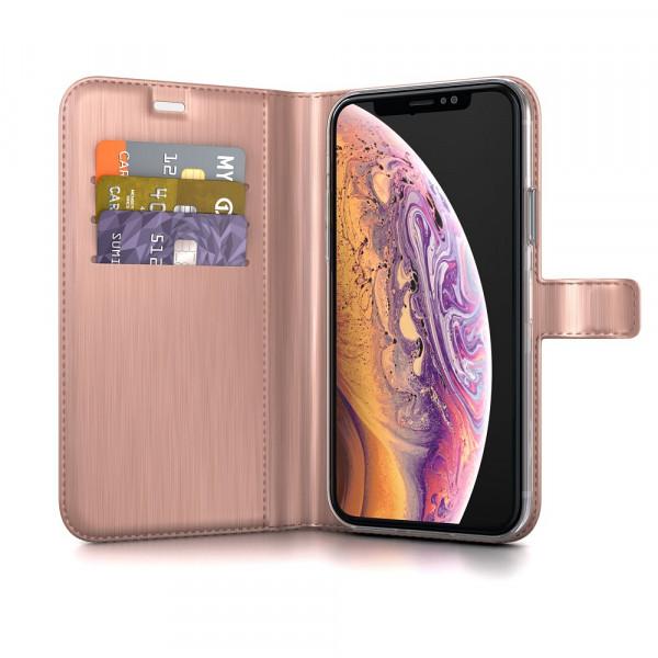 BeHello iPhone X XS Hoesje - Gel Wallet Case Met Ruimte Voor 3 Pasjes Roze