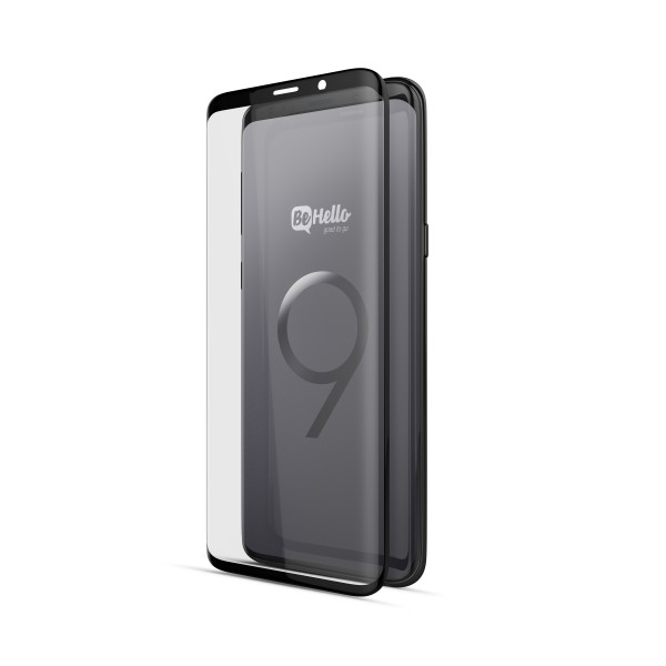 BeHello Samsung Galaxy S9 Screenprotector Tempered Glass - High Impact Glass