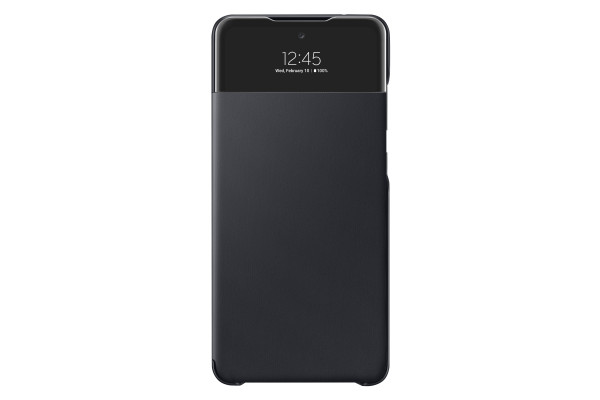 Samsung A72 S View Wallet Cover Case Black