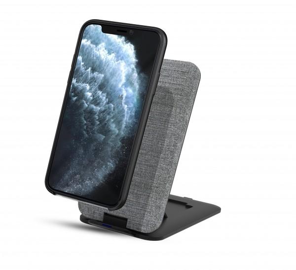 BeHello Staande Draadloze Oplader 10W Qi Fast Charger Snel Lader Grijs Geschikt voor o.a. Samsung Ga