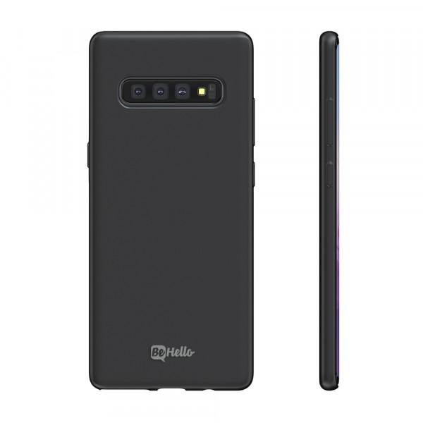 BeHello Premium Samsung Galaxy S10+ Liquid Silicone Case Black