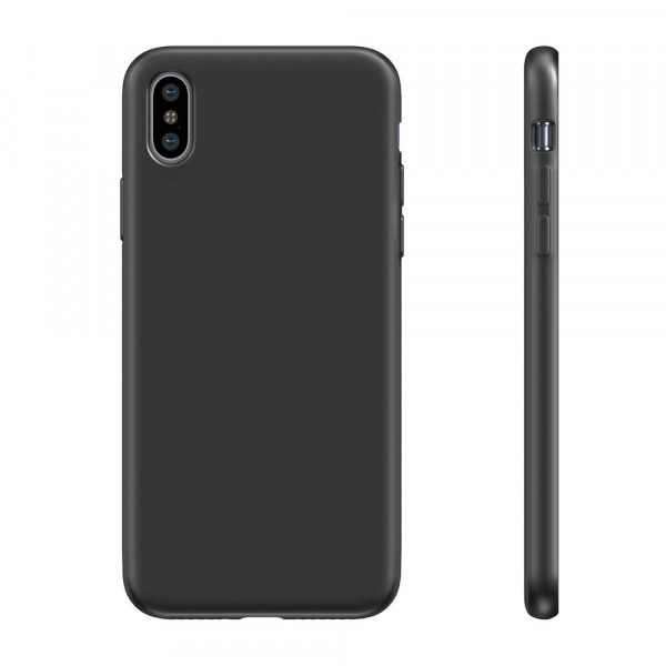 BeHello Premium Liquid Silicon Case Zwart voor iPhone Xs Max