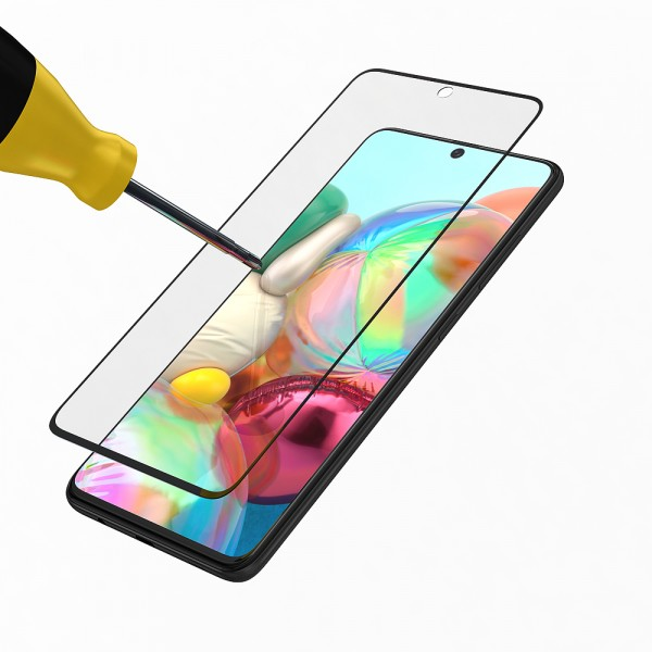 BeHello Samsung Galaxy A71 Screenprotector Tempered Glass - High Impact Glass
