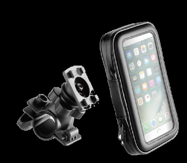 BeHello Universele Telefoonhouder voor op de Fiets - Waterdicht - Zwart voor oa iPhone 11(Pro)/Xr/Xs
