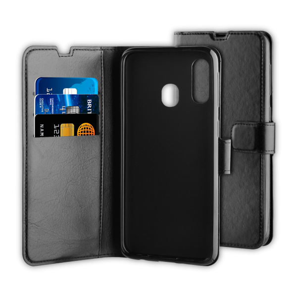 BeHello Samsung Galaxy A40 Gel Wallet Case Black