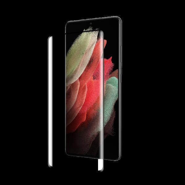 BeHello Samsung Galaxy S21 Ultra Screenprotector - Antibacterieel High Impact Gehard Glas