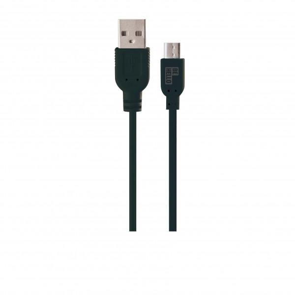 BeHello Micro-USB Oplaadkabel (1.2m) Zwart