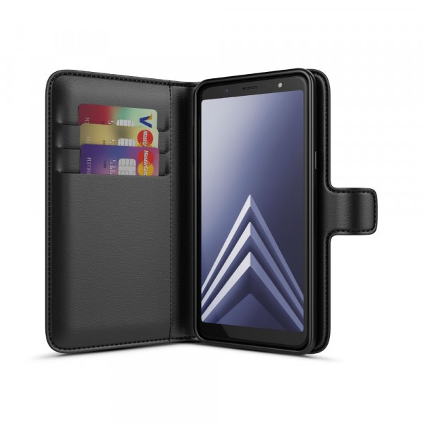 BeHello Gel Wallet Case Zwart voor Samsung Galaxy A6+