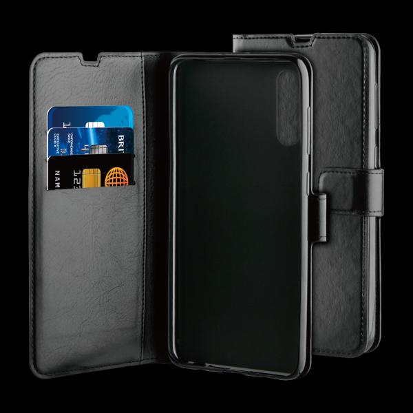 BeHello Samsung Galaxy A70 Hoesje - Gel Wallet Case Met Ruimte Voor 3 Pasjes Zwart