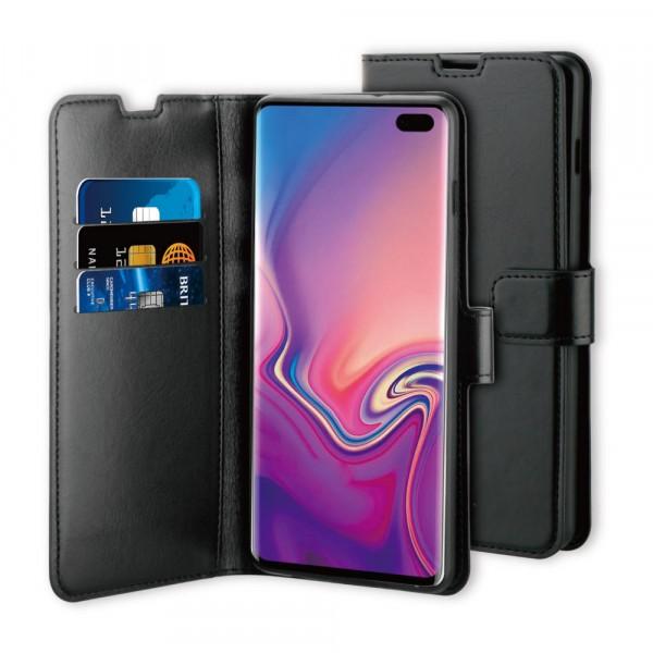 BeHello Samsung Galaxy S10+ Hoesje - Gel Wallet Case Met Ruimte Voor 3 Pasjes Zwart