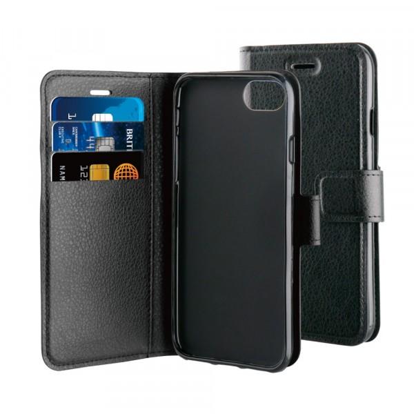 BeHello iPhone 8 7 6s 6 Hoesje - Gel Wallet Case Met Ruimte Voor 3 Pasjes Zwart