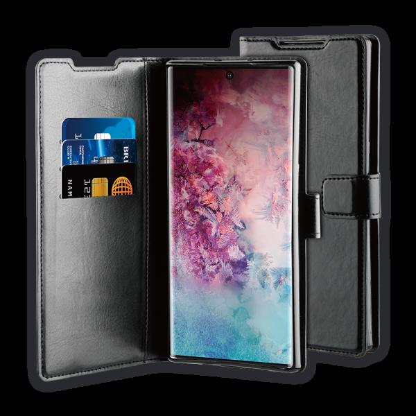 BeHello Samsung Galaxy Note10+ Hoesje - Gel Wallet Case Met Ruimte Voor 3 Pasjes Zwart
