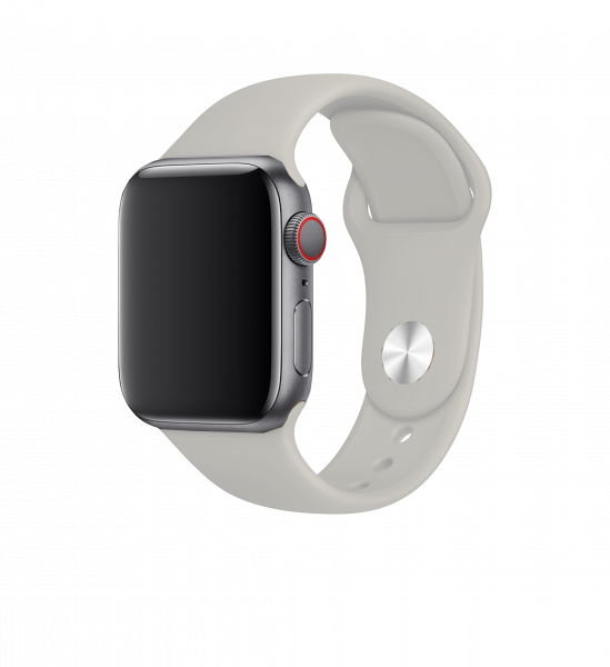 BeHello Premium Siliconen Band 38/40mm voor Apple Watch Stone/Grijs