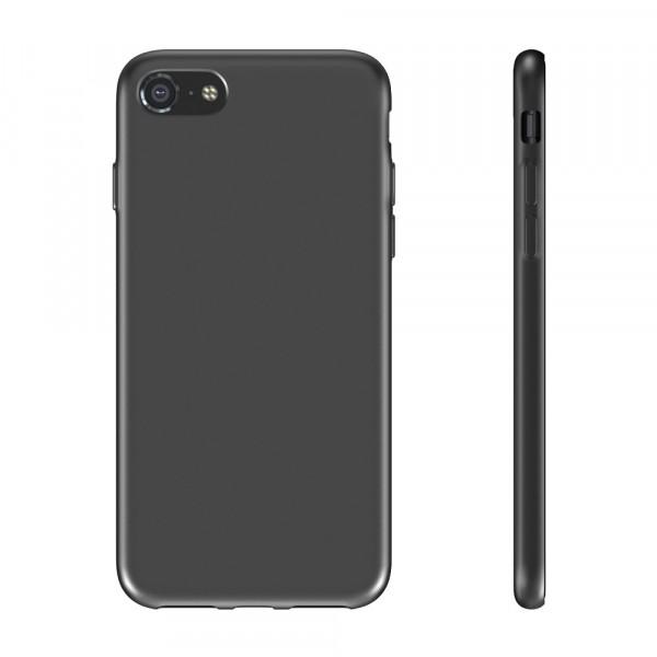 BeHello Premium iPhone 8 7 Siliconen Hoesje Zwart