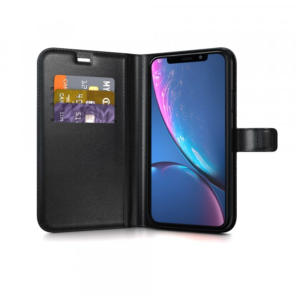 BeHello Gel Wallet Case Zwart voor iPhone Xr