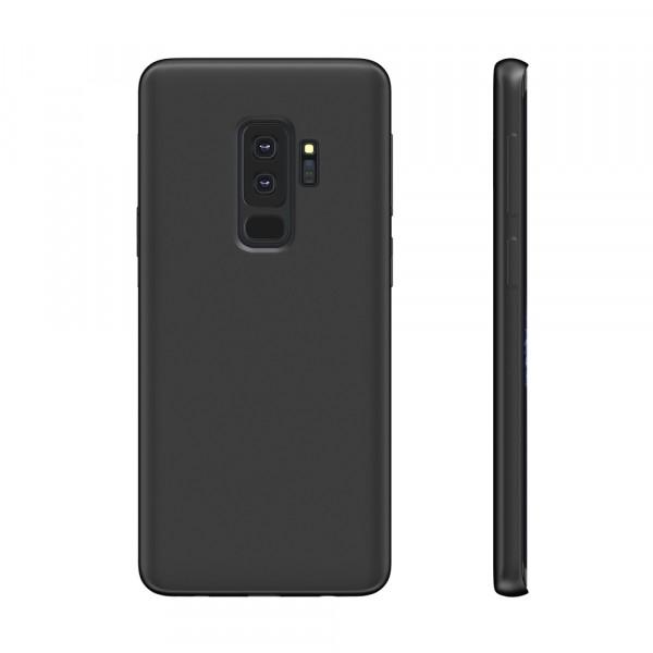 BeHello Premium Liquid Silicon Case Zwart voor Samsung Galaxy S9+
