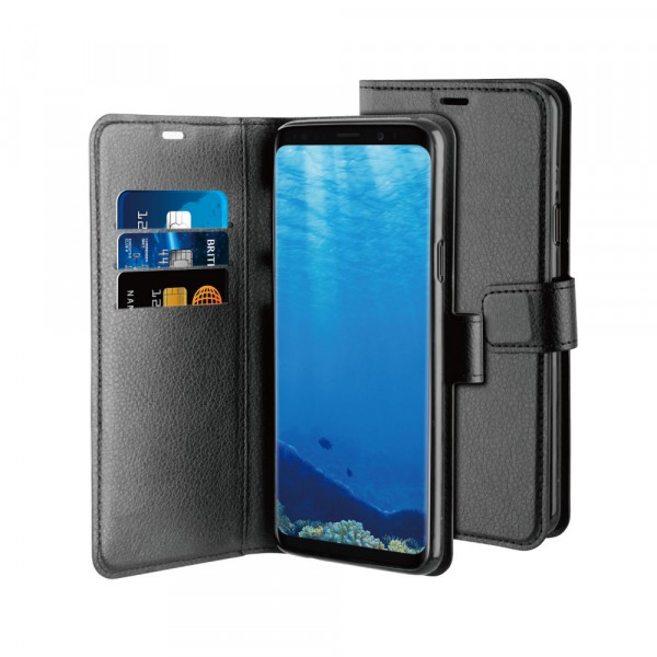 BeHello Gel Wallet Case Zwart voor Samsung Galaxy S9 Plus